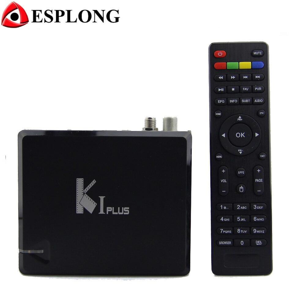 KI PLUS DVB-T2 DVB-S2 Android 7.1 TV BOX Amlogic S905 Quad Core 1GB 8GB 64bit 4K 3D Wifi Media Player Support Miracast DLNA 2016 new ki plus t2 s2 amlogic s905 quad core 64 bit support dvb t2 dvb s2 1g 8g 1080p 4k h 265 android 5 1 k1 plus dvb tv box