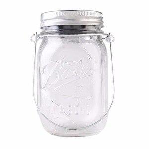 Image 5 - Solar powered Mason Jar Lights (Mason Jar & Handle Included),10 Bulbs Warn White Jar Hanging Light,Garden Outdoor Solar Lanterns
