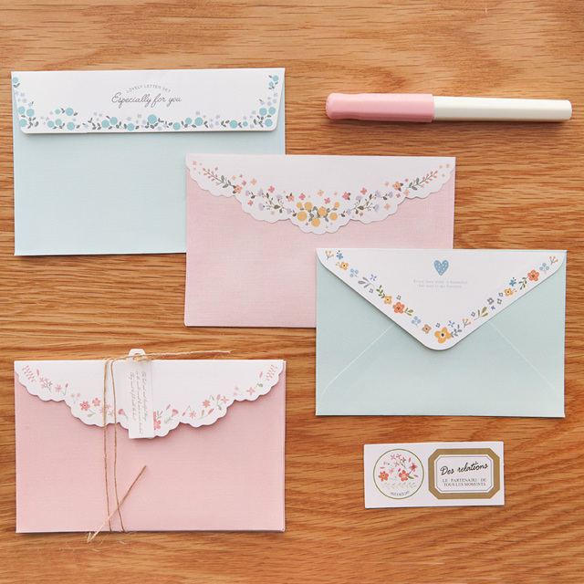 mirui lovely envelope stationery sets including two envelopes and