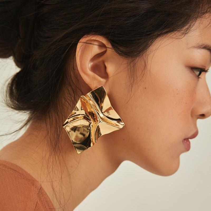 Large Metal Earrings Fashion Women Punk Maxi Geometric Earrings Party Jewelry