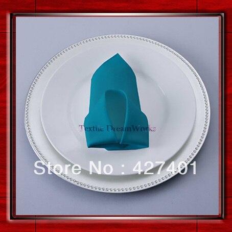 High Quality 45x45cm Teal Polyester Plain Napkin / Table Napkin / Hotel Napkin / Dinner Napkin (Factory Direct Sale)