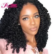 Oscar Queen Silk Base Full Lace Wigs Remy Brazilian Hair Kinky Curl Wig PrePluck Natural Hairline Bleaches knots With Baby Hair(China)