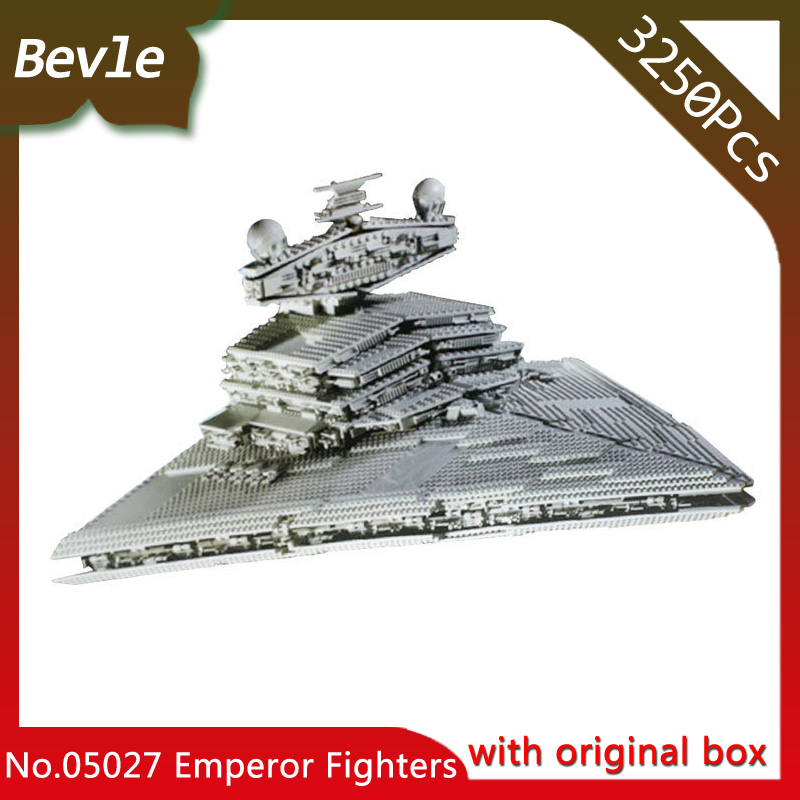 Bevle Store LEPIN 05027 3478Pcs with original box star wars Emperor fighters starship Model Building Blocks