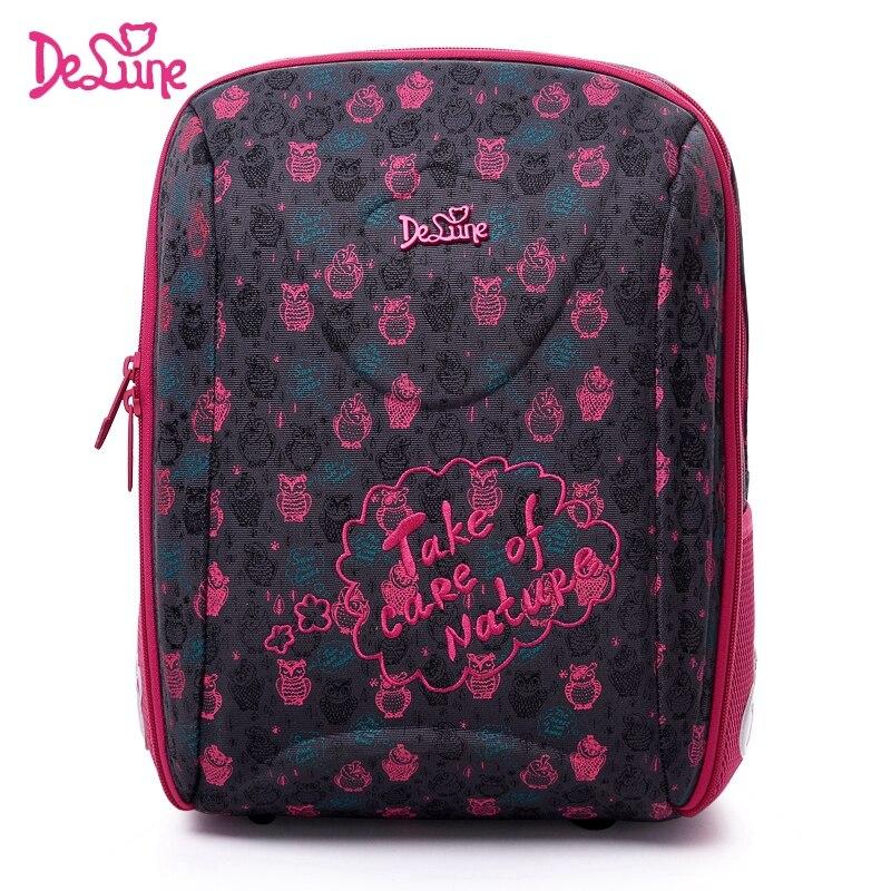 Детская Delune школьная сумка большой Ёмкость школьный рюкзак ортопедический медведь с п ...