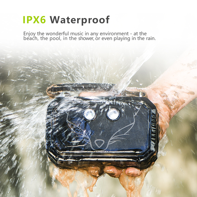 geekoplanet.com - Waterproof  Traveler's Wireless Bluetooth V4.0 Speaker with Torch Light