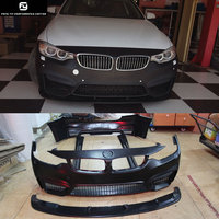 F32 428i 435i 4 series M4 type PP front bumper rear bumper side skirts for BMW F32 F33 F36 car body kits 2014 2015