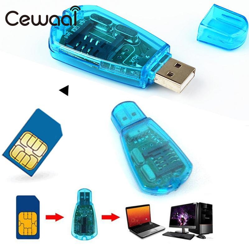 Cewaal USB Smart Phone Contacts SMS SIM Card Reader Writer Copy Backup Portable Adapter Mobile Phone SIM Card Reader