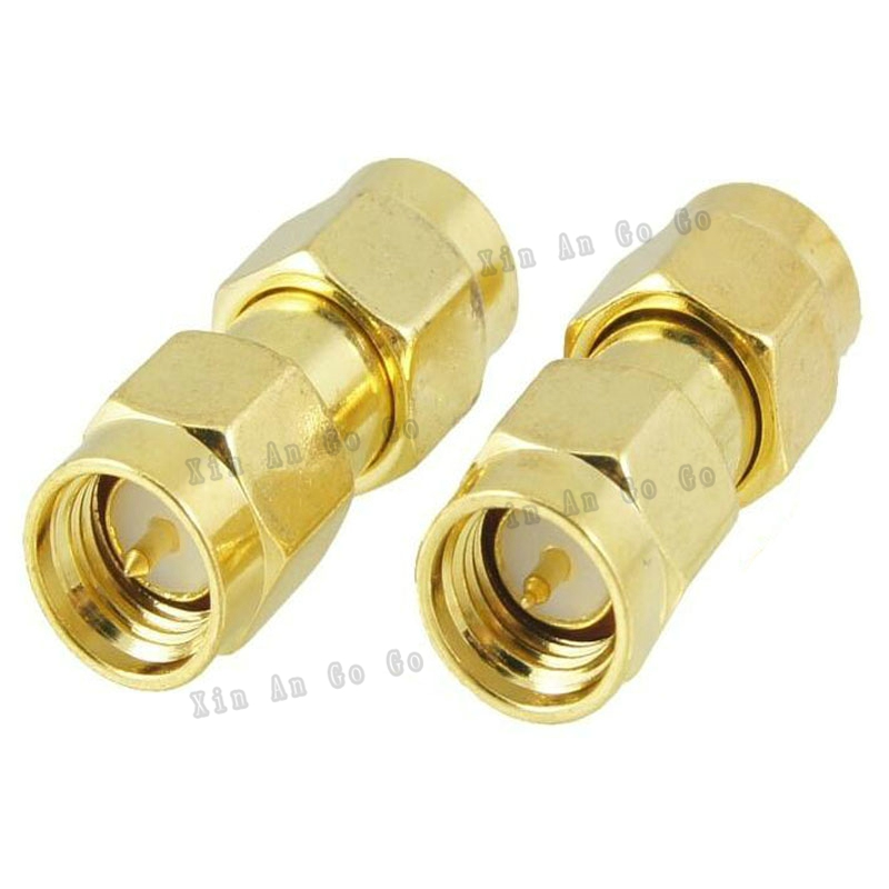 RF coaxial coax adapter SMA to SMA connector SMA male to SMA male Plug adapter fast ship 50pcs sma mmcx adapter mmcx male plug to sma plug male straight rf adapters