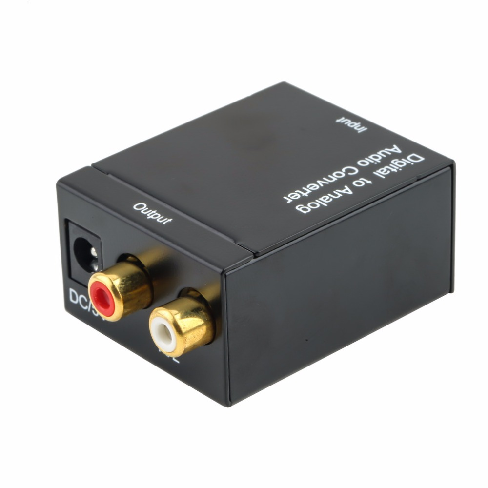 Digital To Analog Audio Converter Adapter  Optic Coaxial RCA Toslink Signal To Analog Audio Converter RCA