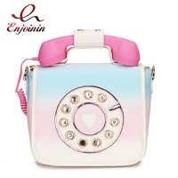 Diseño de teléfono de moda gradiente de Color Pu bolso de hombro de mujer bolso bandolera para mujer bolso Casual bolso Bolsa solapa