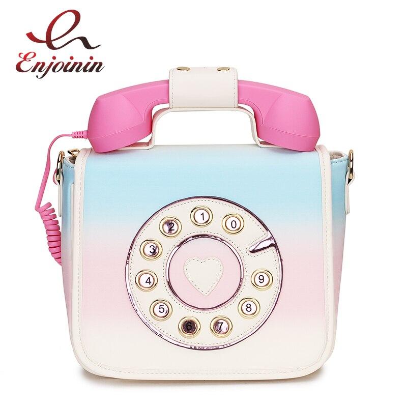 Gradiente de Cor Projeto Do Telefone da moda Pu Feminino bolsa de Ombro Bolsa Crossbody Saco Do Mensageiro Para Mulheres Bolsa Ocasional Bolsa Bolsa Flap