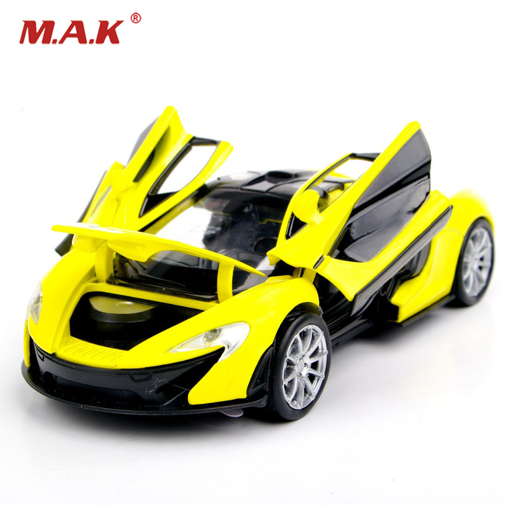 Collectible Car Models 1:32 Yellow McLaren P1 Alloy Diecast
