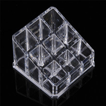 9 Lipstick Holder Display Stand Clear Acrylic Cosmetic Organizer Makeup Case Sundry Storage Brand New Makeup Brushes Organizer 16 cells acrylic clear cosmetic storage box holder makeup organizer lipstick holder display stand toiletries storage boxes case
