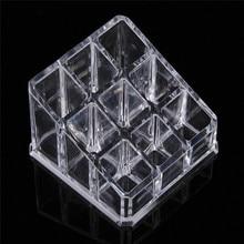 9 Grid Acrylic Lipstick Holder Transparent Jewelry Storage B