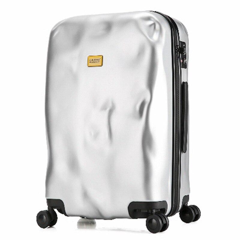 Fashion Matte Meteorite Rolling Luggage Bag Mala De Viagem Valiz Travel Suitcase TSA Lock Koffer Trolley Suitcase With Wheels
