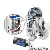 Лепин 05043 Star Wars серии 2127 шт. в R2D2 робот комплект из печати D2 Строительные блоки Кирпич детские игрушки LegoINGlys 10225