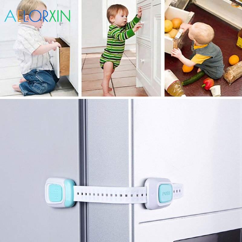 1Pcs Protection Baby Safety Baby Newborn Care Child Refrigerator Drawer Toilet Lock Protection From Children Security Cabinet