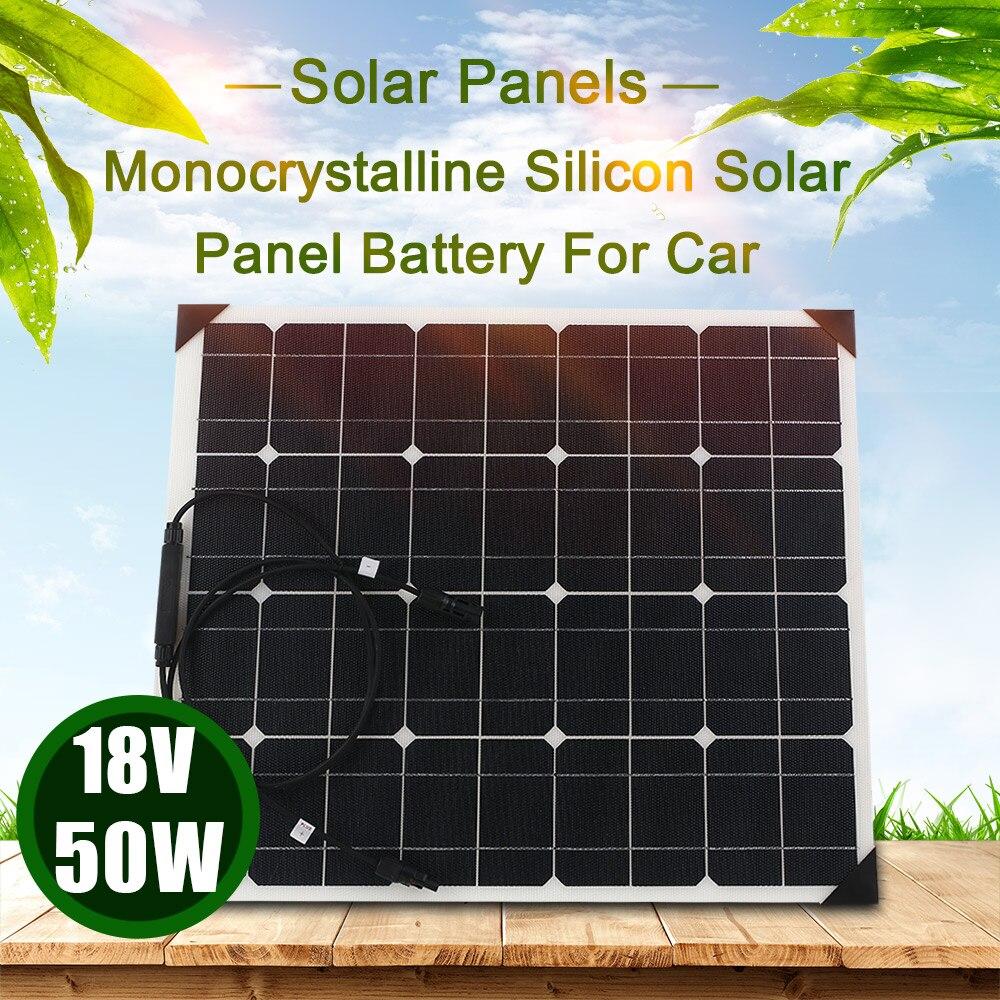 Здесь можно купить  Solar Panel System Monocrystalline Silicon Solar Panels 50W 18V ETFT Honeycomb Surface 25% High Conversion Rate RV Homeuse  Свет и освещение