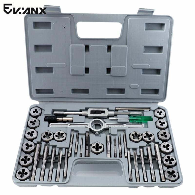 M3 M12 Tap Die Set Metric Plug Tap Alloy Steel Tapping Set Thread Gauges Threading Tool 40PCS