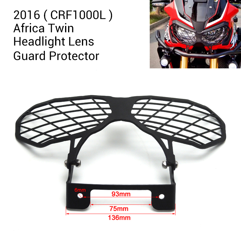 for Honda CRF 1000L Africa Twins 2016 Africa Twin CRF1000L Motorcycle Headlight Lens Guard Protector motorcycle handlebar riser for honda crf 1000l 2016 17 africa twins 30mm handle bar risers handle bar clamp africa twin crf1000l