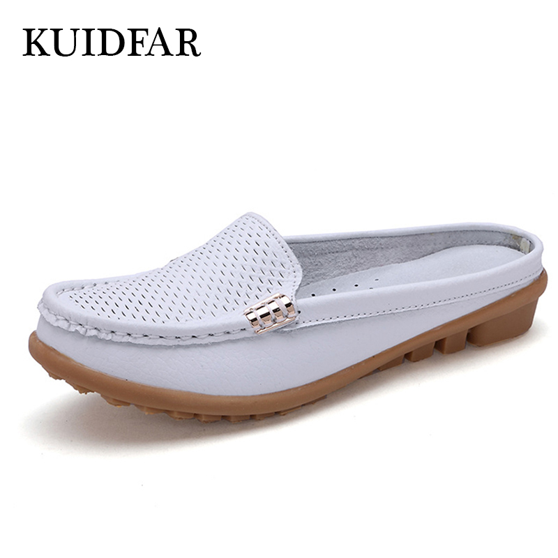 KUIDFAR Plus size Women Flats Genuine Leather new Loafers Moccasins woman casual shoes slip on breathable shoes women Oxford camel active 2018 new authentic brand casual men genuine leather loafers shoes handmade moccasins shoes outdoor flats plus size
