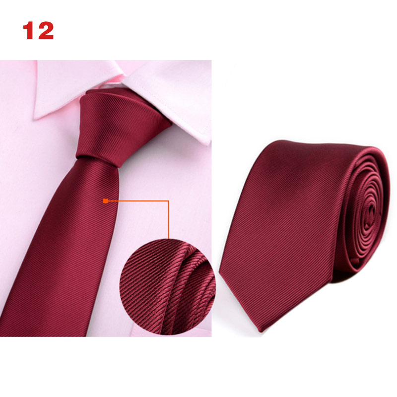 HOT Men Classic 6cm Thin Neck Ties Printed Jacquard Woven Necktie Business Party Accessories 19ING