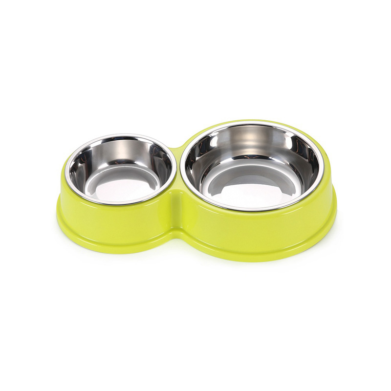 Stainless Steel Pet Dog Bowls Double Puppy Cats Eating Feeder Container  Drinking Bowl Anti-slip Pet Feeding & Watering Dish #3