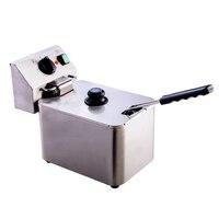 Single Cylinder Fryer Electric Commercial Fryer French Fries Chicken Steak Electric Fryer Milk Tea Shop