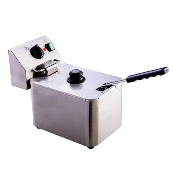 цена на Single Cylinder Fryer Electric Commercial Fryer French Fries Chicken Steak Electric Fryer Milk Tea Shop