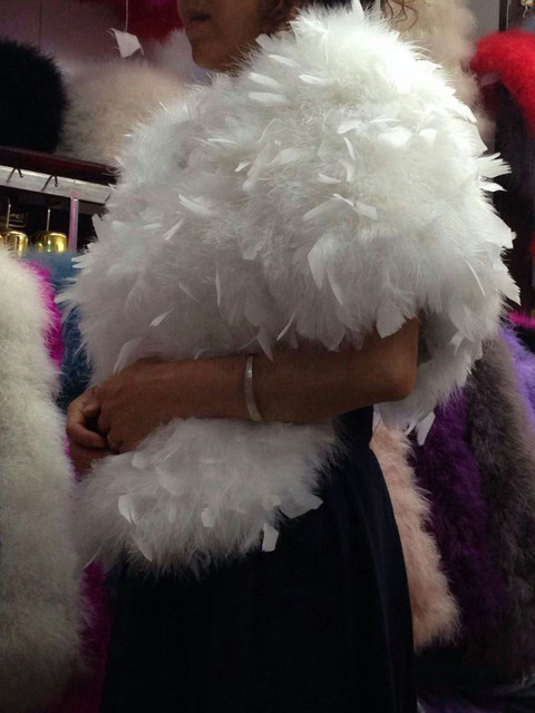 Новый перо страуса волосы мех шаль