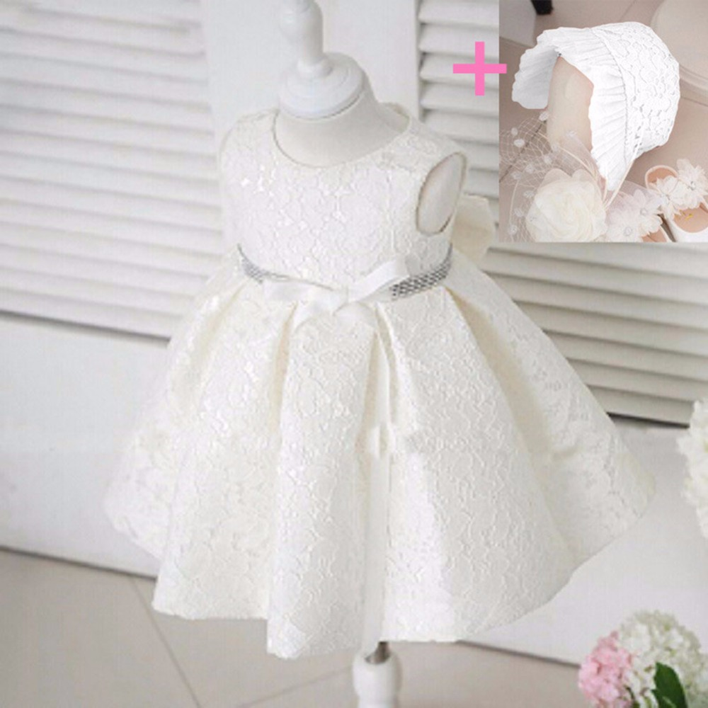 5178ca6cf Newborn Baby Gown Infant Girl's Princess Lace Baptism Bow Dress Toddler Baby  Pink white color-in Girls Costumes from Novelty & Special Use on  Aliexpress.com ...