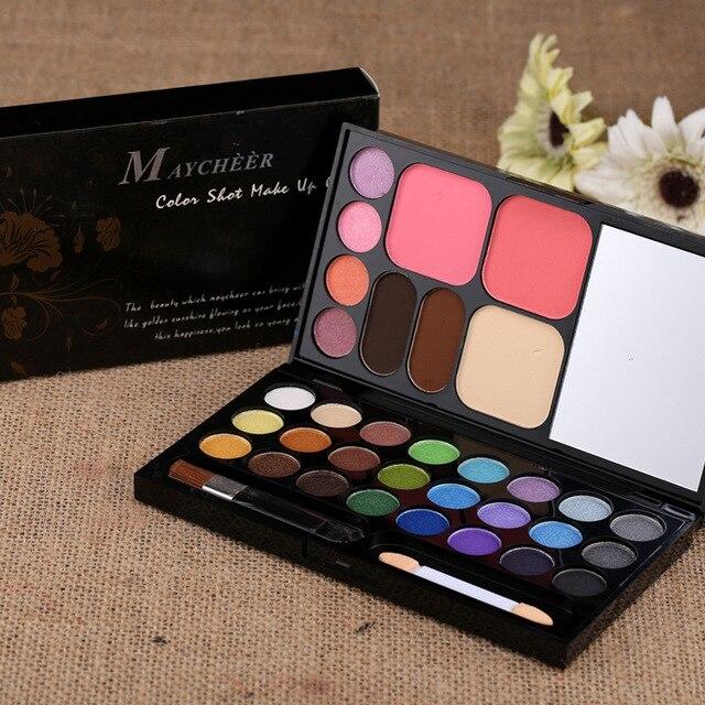 28 Color Slot Make Up Case Eyeshadow Eyeshadow makeup palette color repair capacity