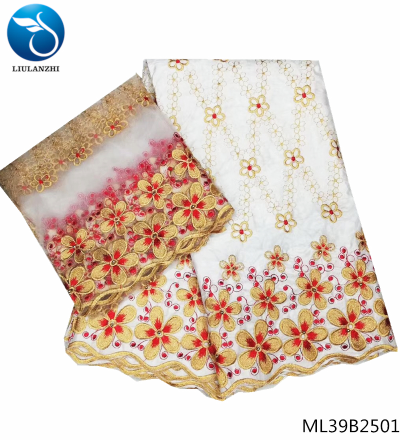 Wx!african Swiss Cotton Lace Fabric Embroidery 5yards Swiss Voile Lace Dubai Swiss Voile Lace Switzerland With 2yards Home L50689 For Sale