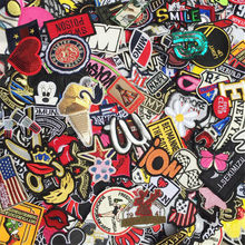 3-8cm 30PCs Mixed Patches For Clothing Embroidery Patch Summer Fabric Badge Stickers For Clothes Jeans Decoration boy girl(China)