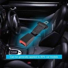 Ремень безопасности для автомобильных сидений, расширитель ремня безопасности, 22 м пряжка, черный цвет, подходит для большинства транспортных средств, универсальный, 24 см/9,45 дюйма