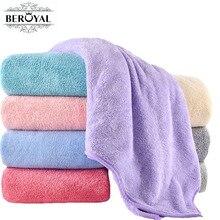 Beroyal Brand Super Absorbent Bath Towels for Adults Large Towels Bathroom Body Spa Sports Luxury Microfiber Bath Towel 140x70cm