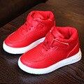 Nuevo Estilo de Las Chicas de Moda Botines Lace Up Kids Zapatillas Hook & Loop Niños Zapatos de Deporte Infantil Calzado Casual