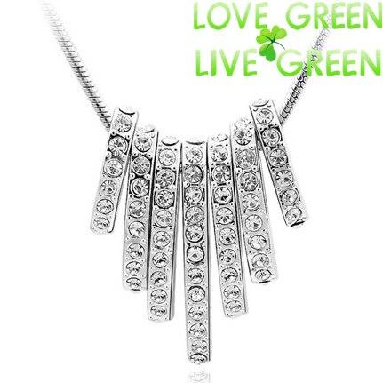 2014 new wedding s 18KGP Rhinestones 7-Circle circles Pendant snake chain Necklace fashion jewelry 80014 - tigertotem Store store