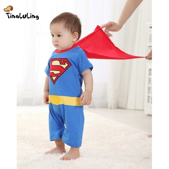 ad39e2da4 TINOLULING Baby Boys Clothing Newborn Superman Romper Toddler Body suits  with Smock Halloween Girls Boys One-Pieces Jumpsuits
