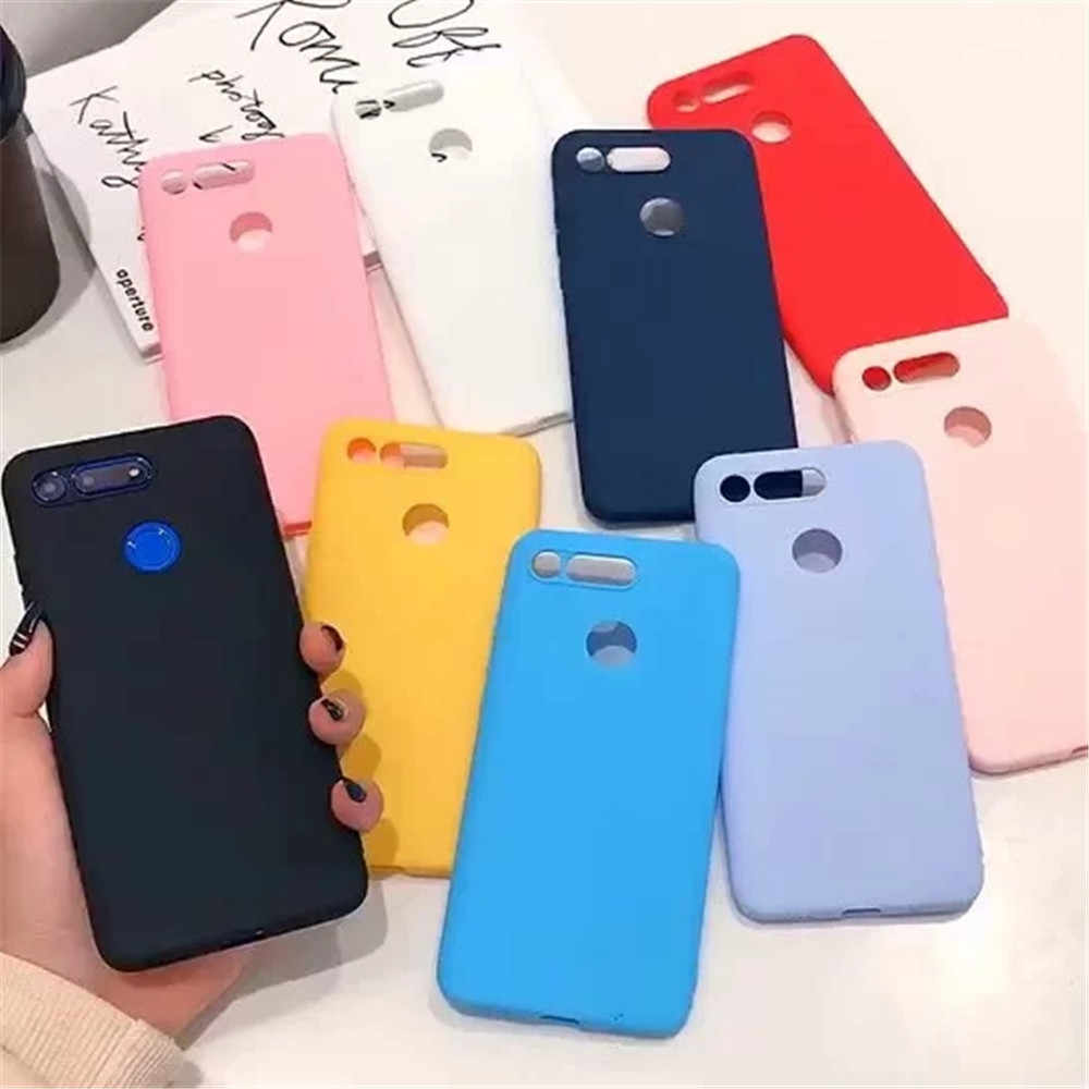 Matte Case for Huawei P20 lite P30 V20 Mate 20 pro P Smart plus 2019 Honor 10 9 lite 8C 8X Y7 Y9 2019 Soft Silicone Candy Cases