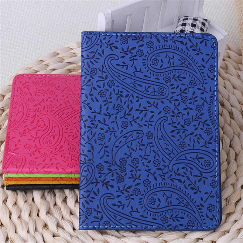 Embossed Lavender Passport Holder ID Card Holder 3D Design PVC Leather Business Card Bag Passport Cover wholesale 14.2*9.8CM