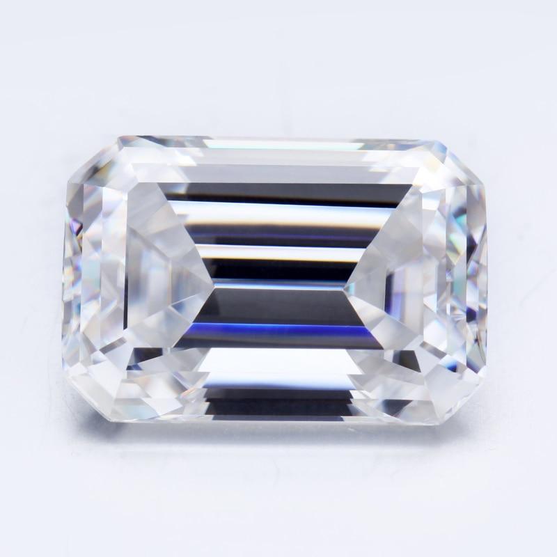 Mode octogone coupe 9*7mm moissanites synthétiques perles bijoux décoration