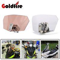 Universal Motorcycle Adjustable Clear Windshield Wind Screen Protector For Honda Yamaha Suzuki Kawasaki Sport Bike