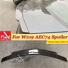 цена на Fits For Mercedes Benz W219 Rear Trunk Spoiler Tail Carbon Fiber C74 Style CLS Class CLS350 CLS400 Trunk Spoiler Wing 2004-2010