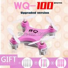 Free shipping WQ-100 mini drone quadcopter remote control dron RC helicopter spy drones toy VS CX-10 10W nano pocket drone fq777