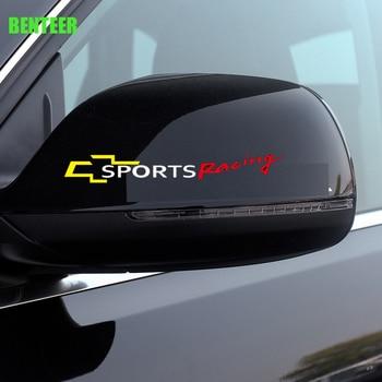 цена на 2pcs KK car rearview mirror sticker For Chevrolet Cruze Captiva Lacetti Aveo Orlando Epica Camaro