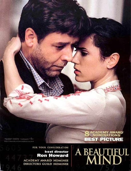FREE SHIPPING A Beautiful Mind Movie Poster 24x36 Inches DVD