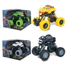 цена на Drive Resilience Wheel Off-road Vehicle Model Shock Absorber Monster Climbing Car Children Puzzle Toy Car 1/12 RC Car for Boys