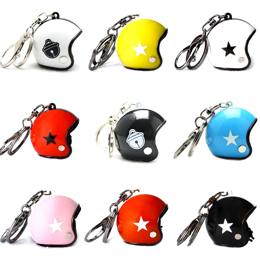 Fashion Motorcycle Helmet Keychain Pendant Classic Key Ring Keyfob Casque Key Holder Sport Events Premium Creative Business Gift