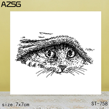 AZSG Kitten Clear Stamps/Seals For DIY Scrapbooking/Card Making/Album Decorative Silicone Stamp Crafts